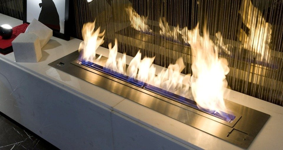 An ethanol fireplace as home decoration is perfect for fall and winter