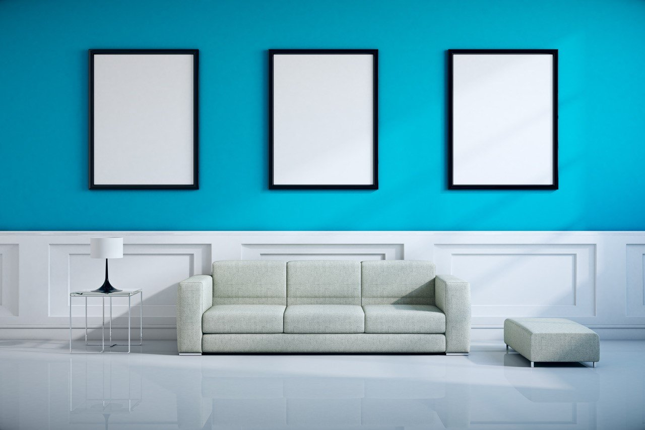 interior painting classic design mixed with modern style