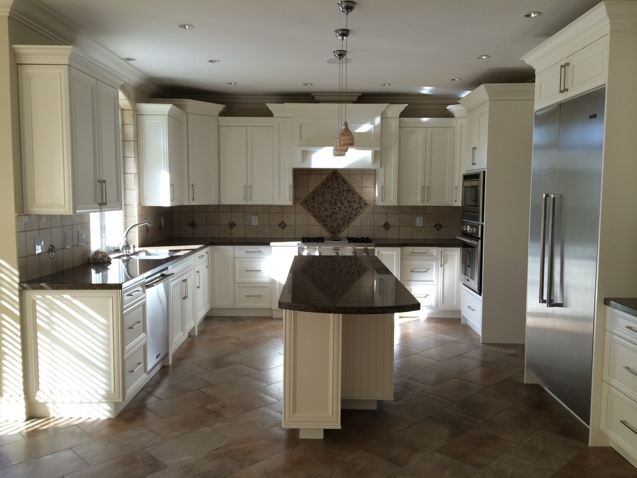 simple kitchen restyling cabinets repainting new handles surrey