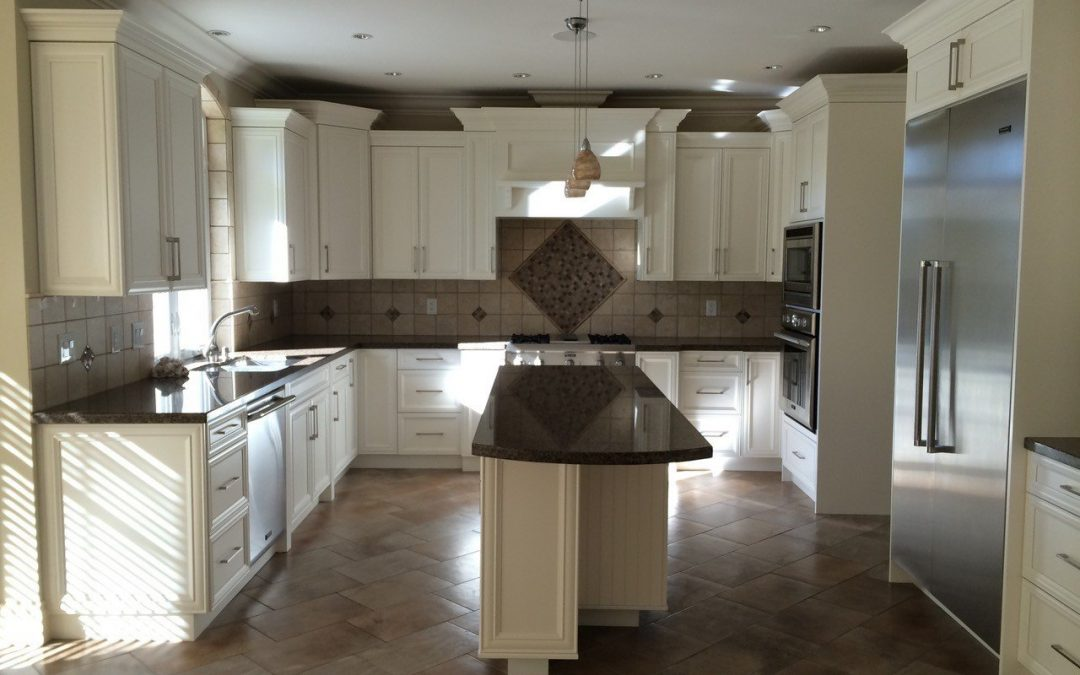simple kitchen restyling: repainting of a 12 year old kitchen in Surrey BC