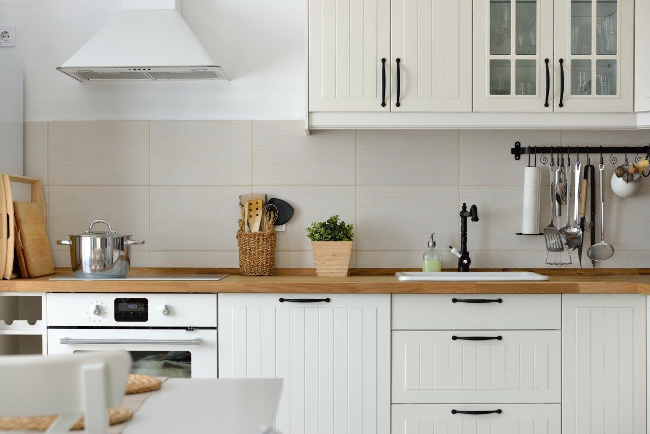timeless white kitchen renovation oak countertop