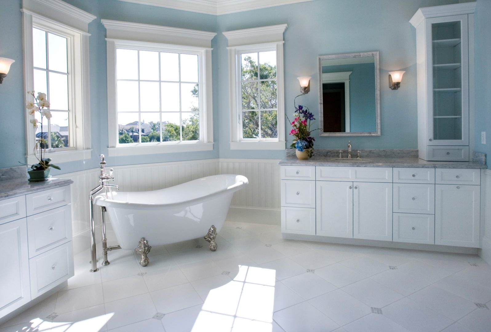 Bathroom Renovations Classic style with nostalgic bathtub
