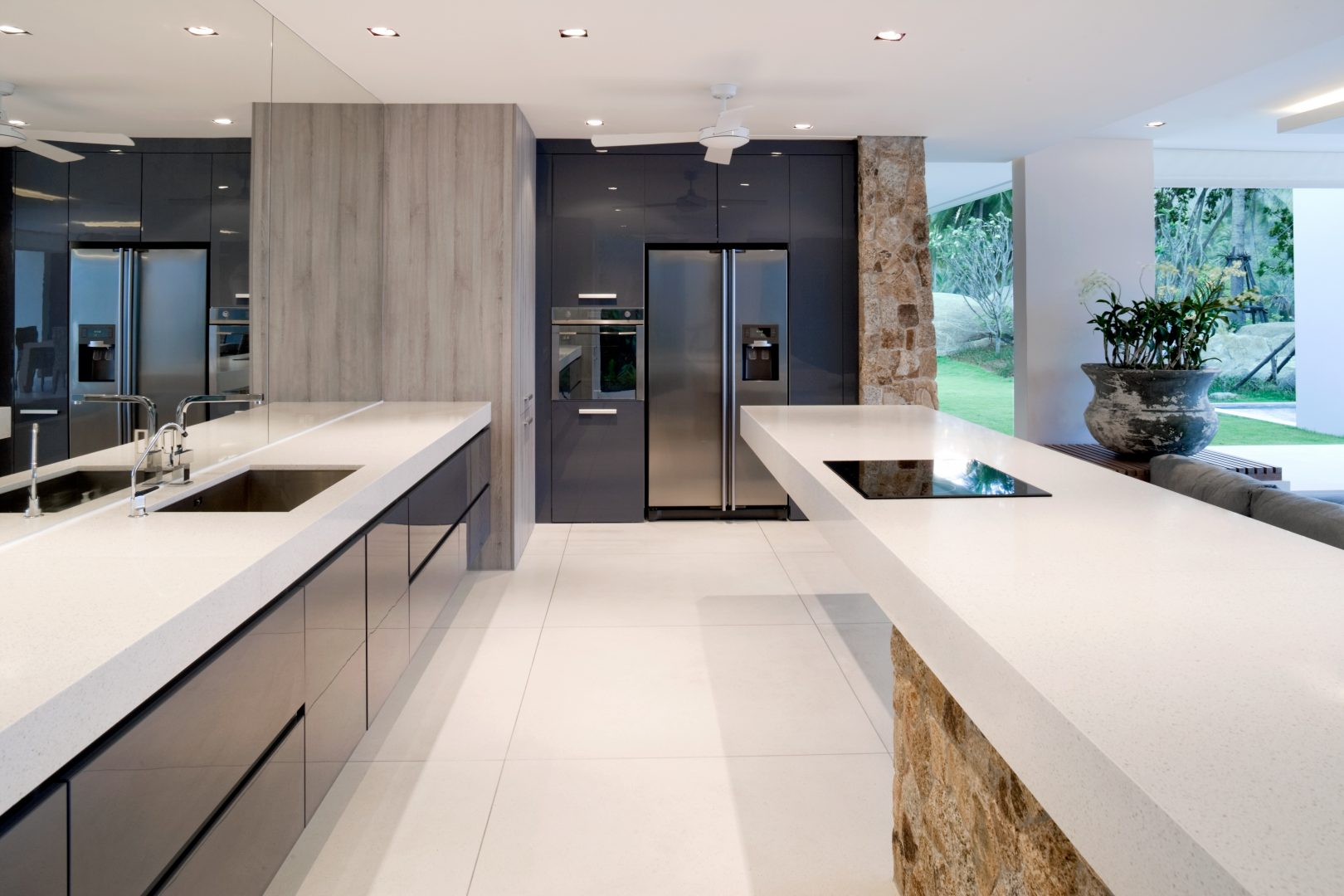 modern kitchen renovation gripless design