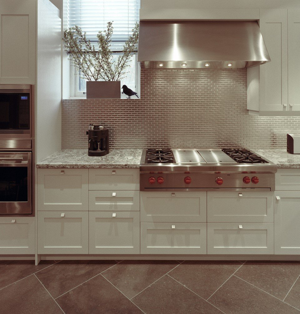 white kitchen renovation with comfortable details