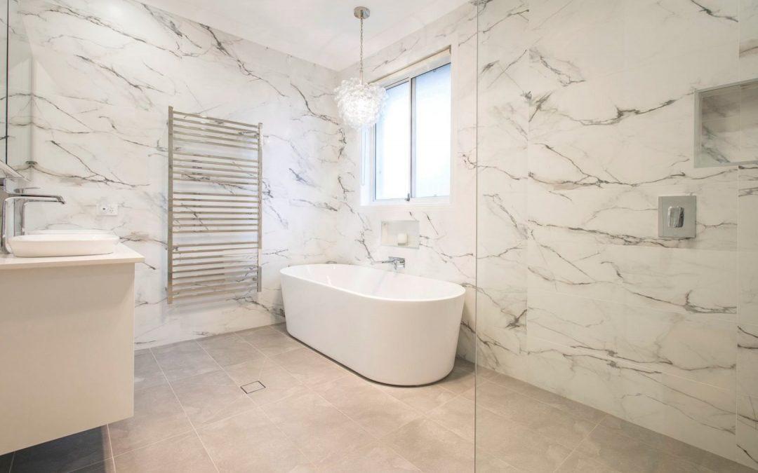 bathroom renovation with subfloor heating