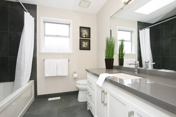 Guests bathroom renovation of a home interior remodelling project.