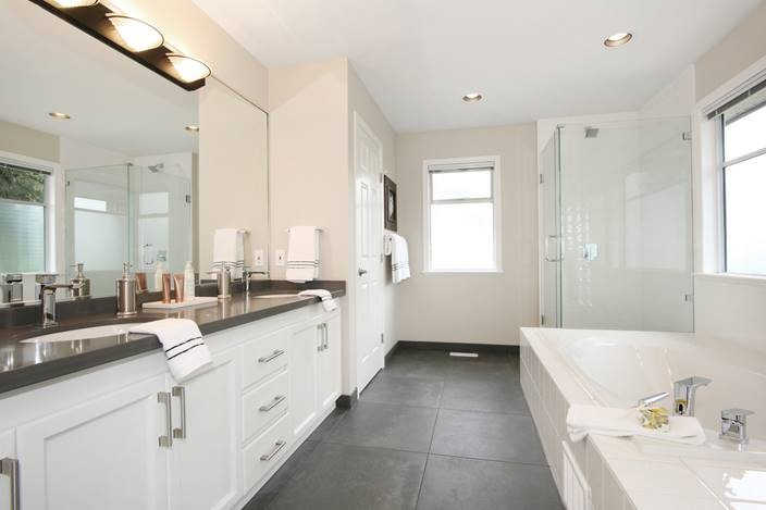 Bathroom renovation of a home interior remodelling project.
