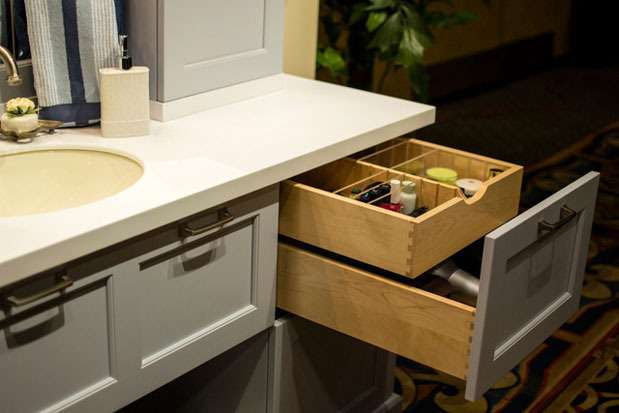 Drawer in drawer, a good bathroom reno idea