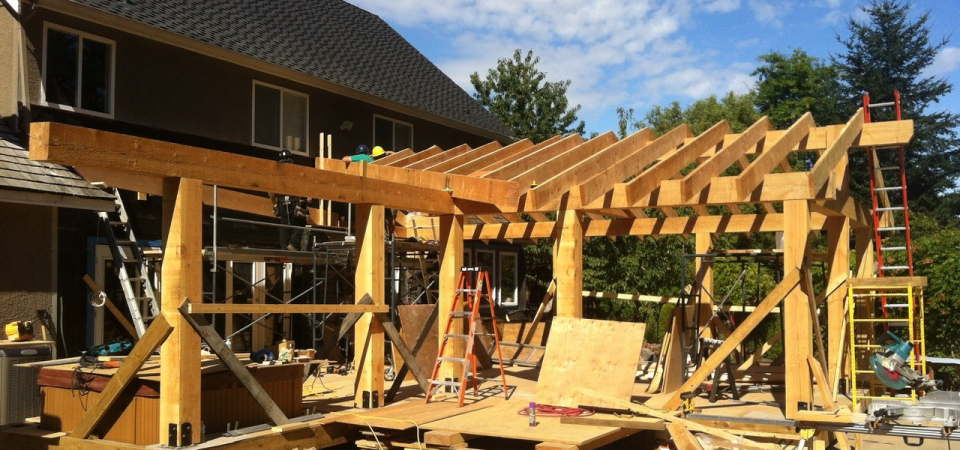 Wooden construction, a home renovation project which requires Professionals.