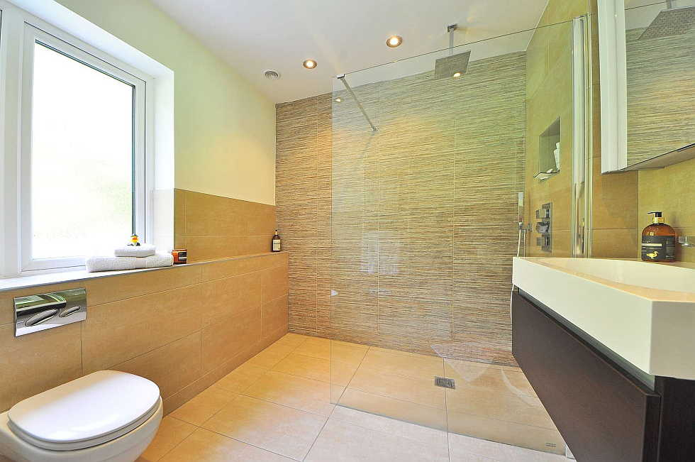 A heated floor is a great bathroom remodeling trend.