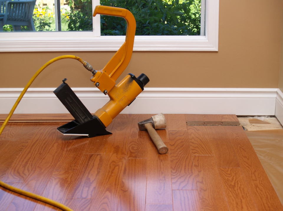 Preparing a new floor of a Home Renovations, Surrey - MC Renovation and Painting
